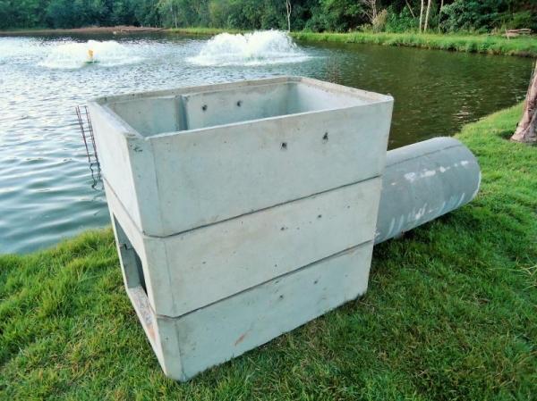 Monge pré-moldado para tanques de piscicultura